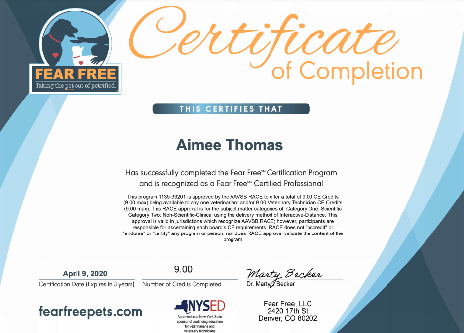 Fear Free Certified _ Aimee Thomas