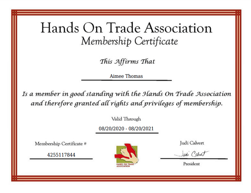 Hands on Trades Association Member